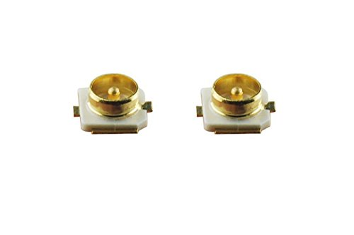 DHT Electronics 2PCS IPEX U.FL SMD SMT Solder For PCB Mount Socket Jack Female RF Coaxial -