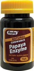 Papaya Enzyme Natural Chewable Tablets 100 Tabs (3 (Papaya Enzyme 100 Chew)