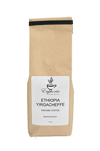 Ethiopia Yirgacheffe, Africa, Handcrafted Specialty Grade, Medium Roast Gourmet, Ground Coffee, Single Origin, Custom Roasted in Maryland 12 ()