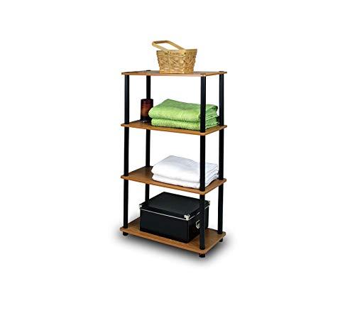 (Office Home Furniture Premium Turn-N-Tube 4-Tier Multipurpose Shelf Display Rack - Light)