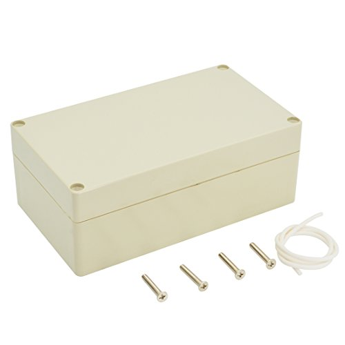 LeMotech Waterproof Dustproof IP65 ABS Plastic Junction Box Universal Electric Project Enclosure Pale Gray 6.2 x 3.54 x 2.3 inch(158 x 90 x 60 - Plastic Box Abs