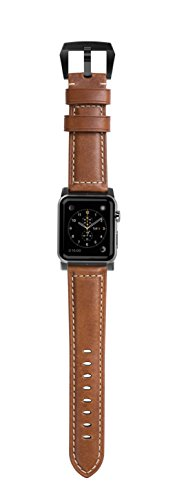 Nomad Horween Leather Strap (Traditional) Apple Watch 42mm Black