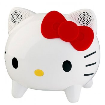 Hello Kitty KT4558 Stereo Speaker System with Built-in iPhone/iPod Docking Station by Hello Kitty