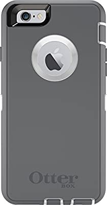 OtterBox DEFENDER iPhone 6/6s Case - Retail Packaging - GLACIER (WHITE/GUNMETAL GREY)