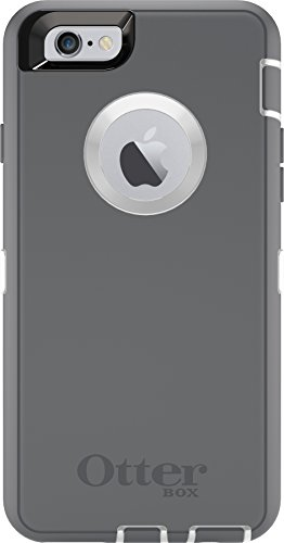 OtterBox DEFENDER iPhone 6/6s Case - Frustration-Free Packaging - GLACIER (WHITE/GUNMETAL GREY)