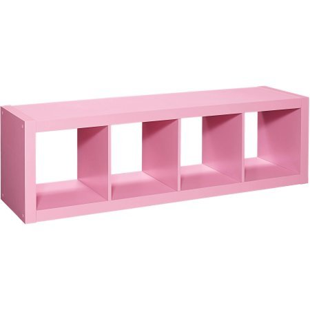Better Homes and Gardens 4-Cube Organizer, Size:, Actual Color: pink