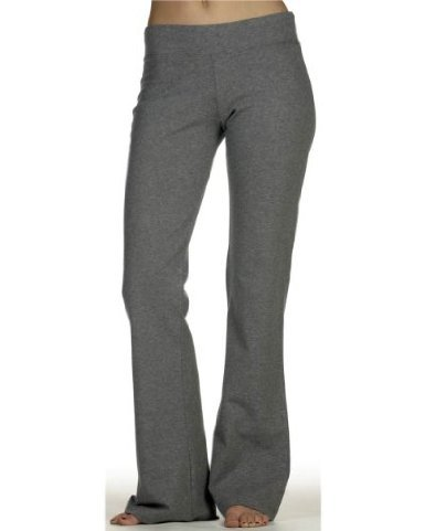 DCS Cotton Spandex Full Length Dance Workout Pant (X-Large, Deep Heather)
