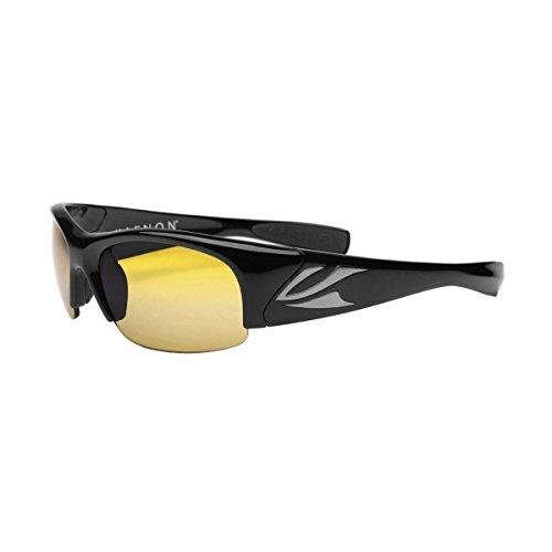 Kaenon Mens Hard Kore Polarized Sunglasses, JM10-MTBLK/Yellow 35 (Kore Electronic)