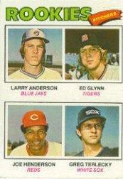 1977 Topps Baseball Rookie Card #487 Anderson/Glynn/Henderson/Terlecky Near Mint/Mint 1977 Rookie Card