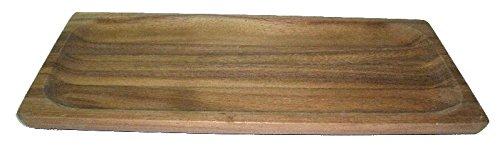 Natree Acaciaware 6 X 12-Inch Acacia Wood Rect Serving Tray 15x30x1.5 Natural