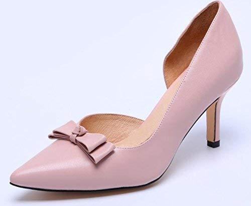 Oudan der Dermis Frauen Schuhe spitz High Heels (Farbe   Rosa Größe   39)