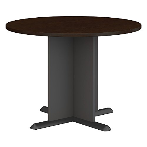- Bush Business Furniture Series A & C 42 Inch Round Conference Table in Mocha Cherry