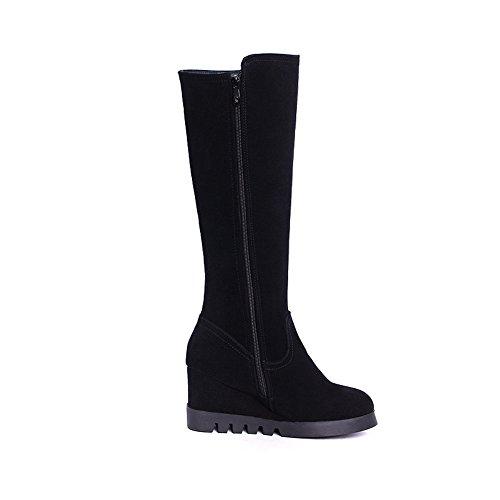 Balamasa Dames Outdoor Verhogen Binnenkant Rits Frosted Boots Zwart