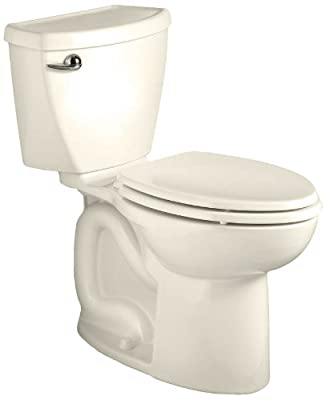 American Standard Cadet 3 Right Height Elongated Flowise Two-Piece High Efficiency Toilet with Rough-In, Linen Linen