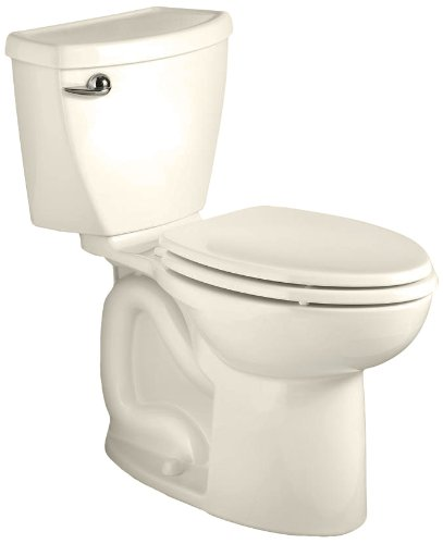 - American Standard Cadet 3 Right Height Elongated Flowise Two-Piece High Efficiency Toilet with 12-Inch Rough-In, Linen Linen