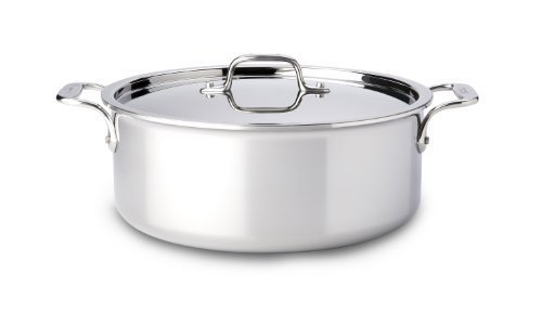 All-Clad 4506 Stainless Steel Tri-Ply Bonded Dishwasher Safe Stockpot with Lid / Cookware, 6-Quart, Silver by All-Clad
