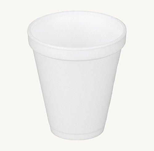 Dart 12j16、12オンスホワイトフォームカップとホワイトプラスチックCup Lid with Reclosableタブ、カスタマイズ可能な使い捨てホットとコールドドリンクお茶コーヒーカップ ホワイト 100  B01LXIY71Y