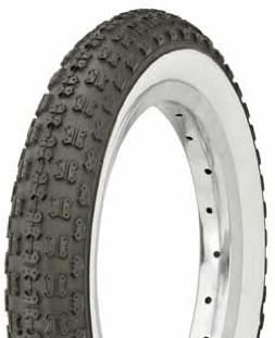 "Lowrider Tire Duro 12 1/2"" x 2 1/4"" Black/White Side Wall HF-143G. Bicycle tire, Bike tire, Kids Bike tire"