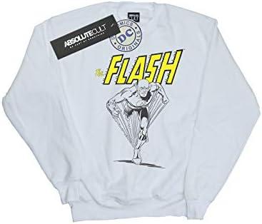 Absolute Cult DC Comics Herren The Flash Mono Action Pose Sweatshirt Weiß XXXX-Large