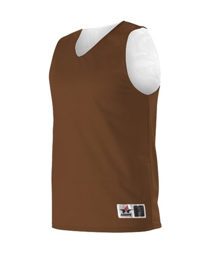 Brown White Alleson Athletic Youth Unisex Reversible Mesh Mesh Mesh