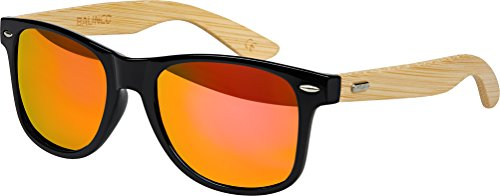 3770a13e76d33 haute qualité Bambou Bois Nerd Lunettes De Soleil Gomme Style Rétro Vintage  Unisex lunettes avec Charnière