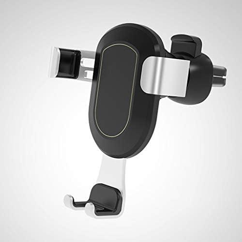 車の電話ホルダーエアーアウトレットの電話ホルダーモバイル重力ブラケットカーアクセサリー (色 : シルバー しるば゜)