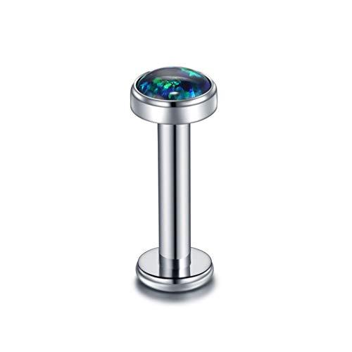 Xpircn G23 Titanium 14G 8mm Labret Monroe Lip Ring Helix Earring Studs Women Men Piercing Jewelry (Monroe Piercing Jewelry 14g)