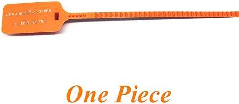 XJYWJ ジップタイオフホワイトザ・テン靴ひも付きシリコン印刷靴ひもスニーカーブースト用 (Color : Orange Zip Tie, Size : 120CM)