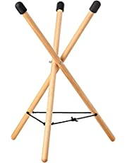 Handpan Drum Stand Adjustable Triangular Snare Stand Solid Beech Wood Ethereal Hand Drum Stand for Steel Tongue Drums Above 10 Inches