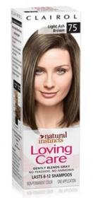 Clairol Natural Instincts Loving Care Color 75 Light Ash Brown, 1 box.