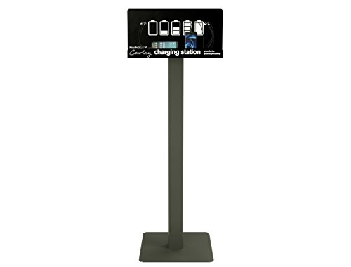 Floor Stand Cell Phone Charging Station Kiosk Tower Dock by KwikBoost | Multiple Device High Speed Cables For 8 Devices, Universal Compatibility, Charge Wireless Phones, Tablets, E-readers, M8 Basic by KwikBoost