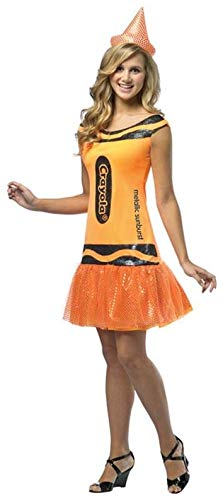Rasta Imposta Crayola Metallic Sunburst Glitz & Glitter Dress, Orange, Teen 13-16 ()