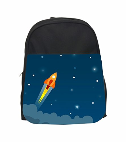 Rocket Ship Blast Off Jacks Outlet PreSchool Children's Backpack and Pencil Case - Bottle Rockets Cheap