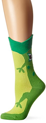 Frog Mouth - K. Bell Women's Wide Mouth Animal Novelty Crew Sock, Frog, 9-11