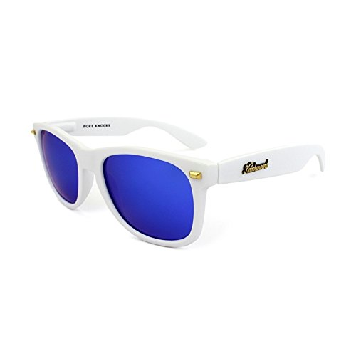 Gafas de sol Knockaround Fort Knocks Matte White / Moonshine POLARIZADAS: Amazon.es: Ropa y accesorios