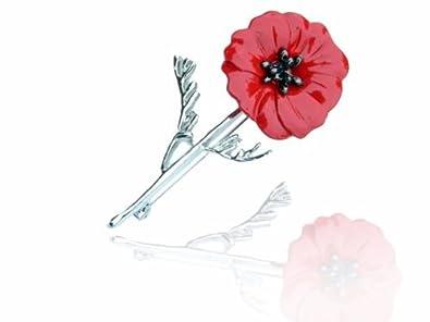 Silver red poppy flower symbolic brooch coat poppies remembrance day silver red poppy flower symbolic brooch coat poppies remembrance day pin br423 mightylinksfo