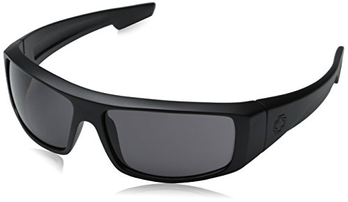 Spy Optic Logan Sunglasses,Matte Black Frame/Grey Lens,one - Sunglasses Spy Amazon