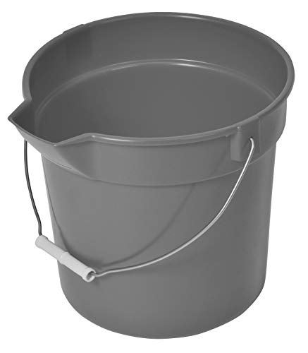 Continental Huskee Buckets, 14 Quart, Gray