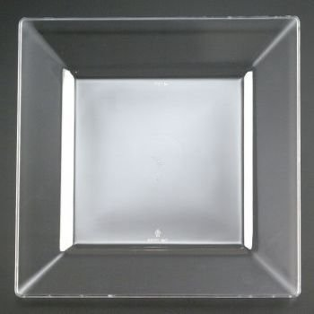 (EMI Yoshi Squares Plastic Dinner Plates 10.75-inch Clear)