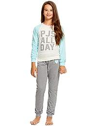 Girls 2 Piece Pajama Set   Long Sleeve Print Tee & Jogger PJ Pants