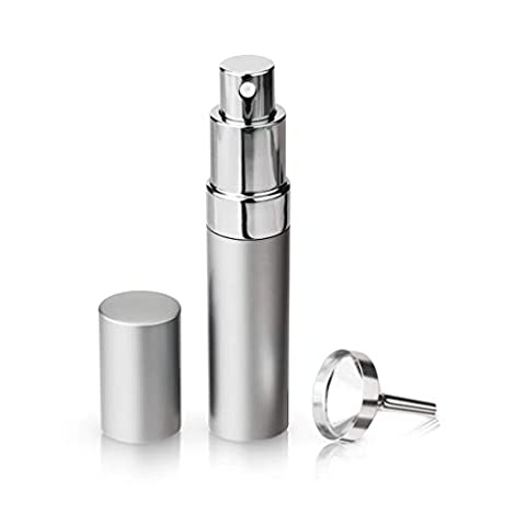 True Martini Atomizer Bar Mister with Refillable Canister and Funnel for Vermouth Spray, Glass Canister with Stainless Steel Case, 15ml