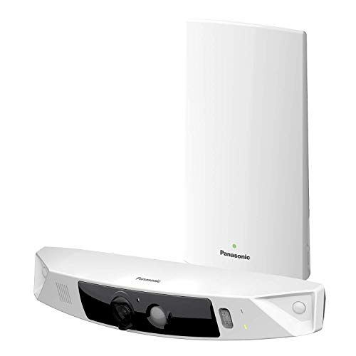 PANASONIC HomeHawk Home Monitoring HD Front Door Camera Simple Wirefree Setup No Fees or Cloud Service Needed Mobile App Alerts Color Night Vision 2 Way Talk Works with Alexa KXHN7001W