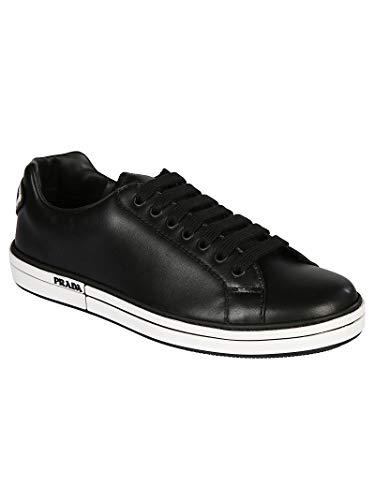 4E33146DTF0002 Prada Rossa Linea Uomo Nero Sneakers Pelle wqSzHnxq8