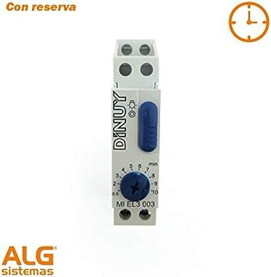 Dinuy el 3000 - Minutero escalera el3000 3h 1 módulo 16a 230v: Amazon.es: Bricolaje y herramientas