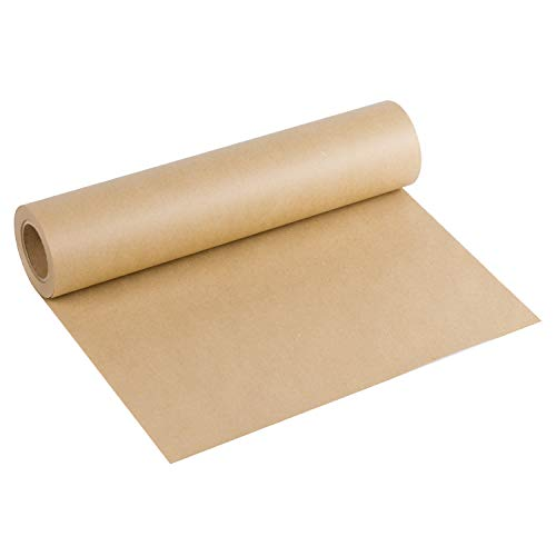 - RUSPEPA Brown Kraft Paper Roll - 15 inch x 100 Feet - Natural Recycled Paper Perfect for Crafts,Small Gift Wrapping
