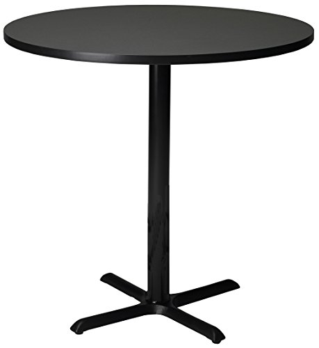 Anthracite Bar (Mayline Bistro Series Round Bar Height Table with Black Base In Anthracite Laminate and Black T-mold/Pac,)