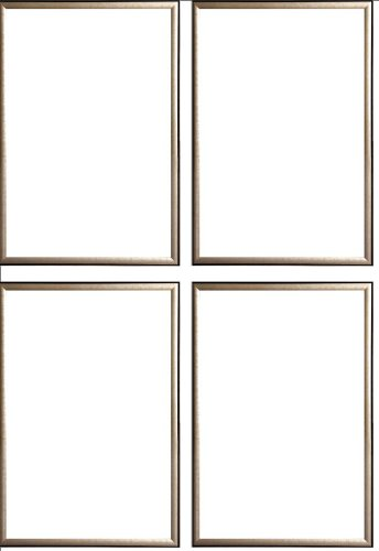 Four(4) Wood Metallic Gold Finish Poster Frame 24x36 or 36 x 24 by Generic