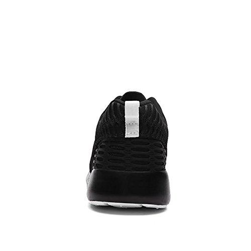 Hommes Up Cricket Couleur Lace Solide Tissu de Chaussures Up Mesh de Chaussures Talon Vamp Black Mode Plat Sneaker OBOqpwr
