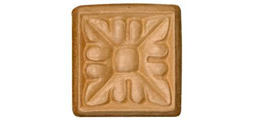 (Small Square Embossed Decorative Rosette - 1.75