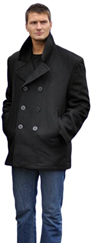 Mil-Tec US Navy Pea Coat Black size L